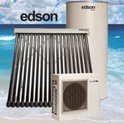 Edson evacuated tube and heat pump solar hot water systems